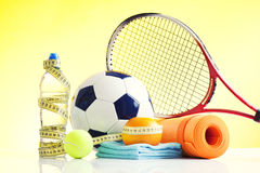 Sport equipmnt, healthy living Royalty Free Stock Images