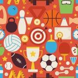 Sport-Erholungs-und Wettbewerbs-Vektor-flach roter nahtloser Rüttler Lizenzfreies Stockfoto