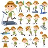 Sport & esercizio dell'uomo anziano del lavoratore dell'agricoltore Immagine Stock
