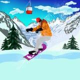 Sport estremo di Skiing.Winter Immagine Stock