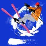 Sport estremo di Skiing.Winter Fotografie Stock