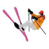 Sport estremo di Skiing.Winter Immagini Stock Libere da Diritti