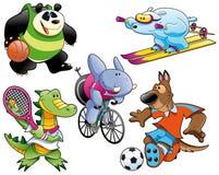 Sport et animal illustration libre de droits