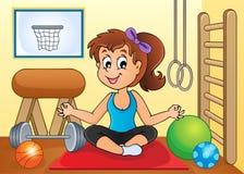 Sport et image 2 de thème de gymnase Image stock