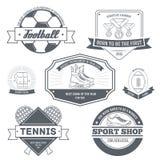 Sport etykietki ustalony szablon emblemata element dla ilustracja wektor