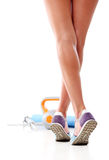 Sport exercise. Sport, fitness. Legs in action Royalty Free Stock Image