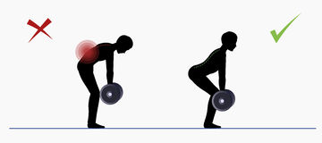 Sport exercise. Physical training Deadlift Royalty Free Stock Photography