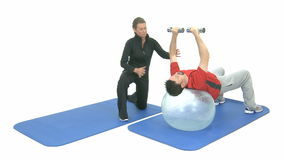 Sport exercise stock footage