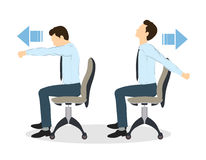 Sport exercises for office. Royalty Free Stock Photos