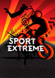 Sport extreme bicycle jumping with grunge Royalty Free Stock Photo