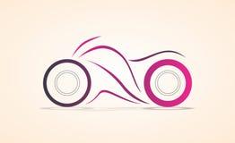 Sport fährt minimalen abstrakten eckigen Kurvenentwurf/Skizze farbige Vektorillustration rad lizenzfreie stockbilder