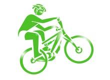 sport för cykelsymbolsberg Arkivbild