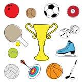 sport för designelementobjekt royaltyfri illustrationer