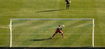 sport för fotboll för tecknad filmteckenspelare Royaltyfria Bilder