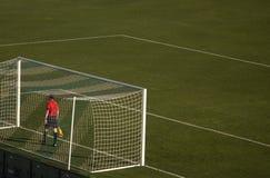 sport för fotboll för tecknad filmteckenspelare Royaltyfri Bild