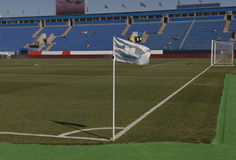 sport för fotboll för tecknad filmteckenspelare Royaltyfria Foton
