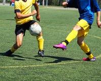 sport för fotboll för tecknad filmteckenspelare Arkivbild