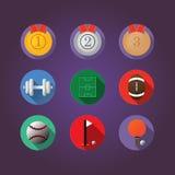 sport för kroppsbyggaresymbolssilhouette Royaltyfria Bilder