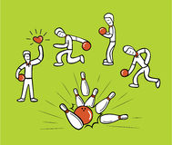 Sport för manbowlingklotbowling Vektor Illustrationer