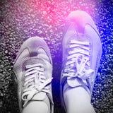 sport för running skor Arkivbilder