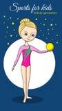 Sport für Kinder Künstlerische Gymnastik Lizenzfreies Stockfoto