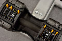 Sport facilities dumbbell Stock Image