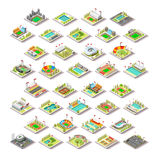 Olympics and Paralympics GamSport Facility Buildings Set 3D Isometric City Vector. Olympics and Paralympics Game Rio Brasil 2016Sport Facility Building Set stock illustration