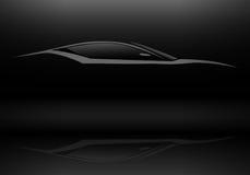 Sport-Fahrzeug-Schattenbild Stockfoto