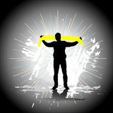 Sport Fan. Energy young man Royalty Free Stock Image