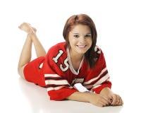 Sport-Fan Beauty Stock Photo
