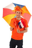 Sport fan in Holland Royalty Free Stock Images
