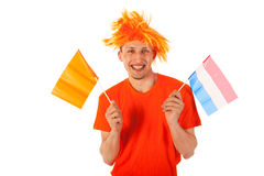 Sport fan in Holland Royalty Free Stock Image