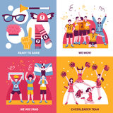 Sport Fans Cheerleaders Isometric Concept Royalty Free Stock Photo