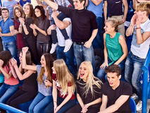 Free Sport Fans Clapping And Singing On Tribunes. Royalty Free Stock Photos - 67230518