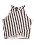 Sport female striped top, black and white pattern Royalty Free Stock Photography
