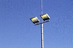 Sport field lighting equipment spots in light Stock Photography