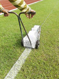 Sport Field Marking Paint Stock Photography