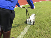Sport Field Marking Paint Stock Image