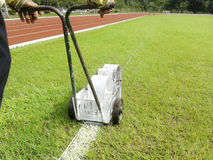 Sport Field Marking Paint Royalty Free Stock Photos