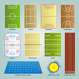 Sport field set stock illustration
