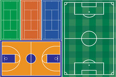 Sport fields Royalty Free Stock Image