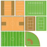 Sport fields Stock Images
