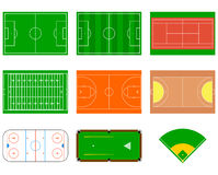 Sport fields. Can be used for demonstration, education, strategic planning and other proposes stock illustration