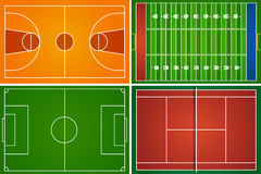 Sport fields and courts Royalty Free Stock Images