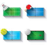Sport fields illustration icons set Royalty Free Stock Photography