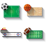 Sport fields illustration icons set Royalty Free Stock Photo
