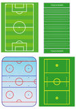 Sport fields scheme. Stock Images