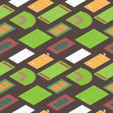 Sport fields seamless pattern Royalty Free Stock Photography