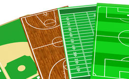 Sport fields Royalty Free Stock Photos