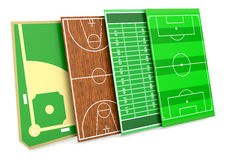 Sport fields Stock Photography